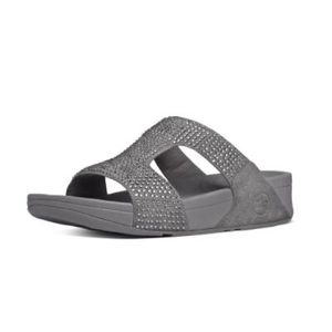 Fitflop Crystal Steel Rokkit Slide Sandals Size 6